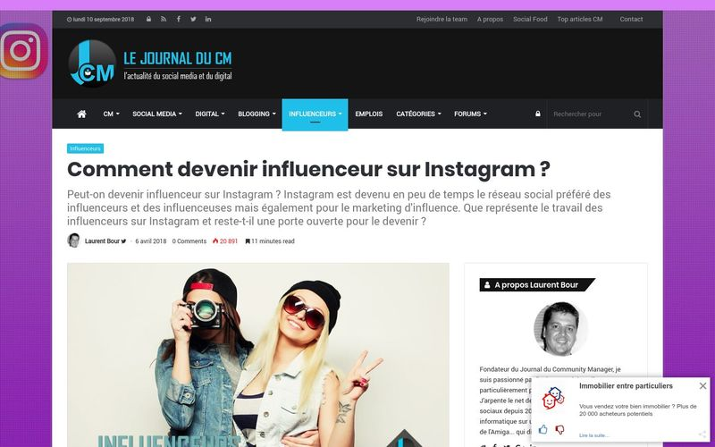 Journal du Community Manager : Comment devenir influenceur sur Instagram ?